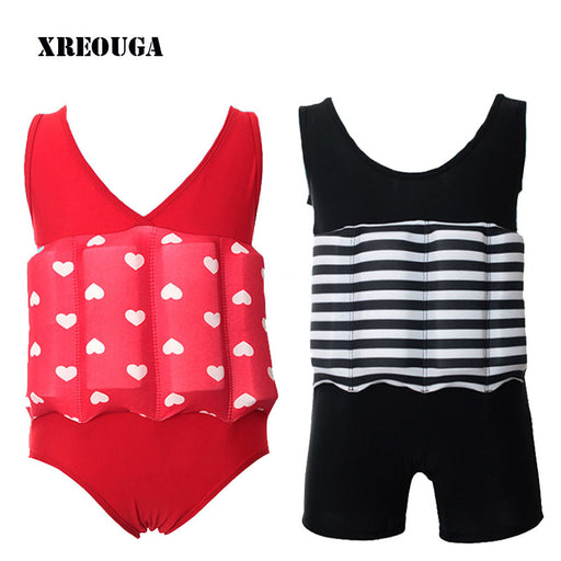 Floating Buoyancy Baby Boy/Girl Swimsuits Detachable Swimwear Siamese Swimming Training Kids Swimming Float Suits - KiddyLanes