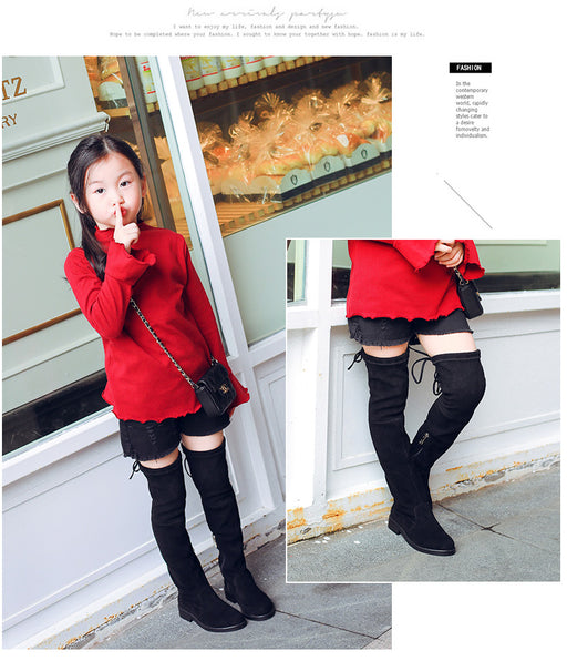 Over The Knee Boots Girl Fashion Boots For Autumn And Winter Princess
