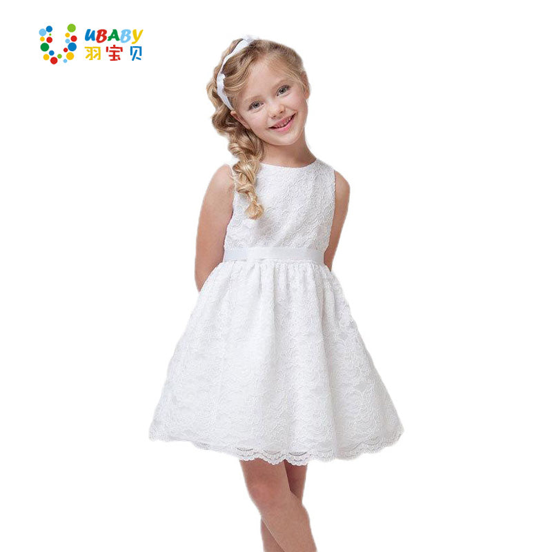 0c7a5a7374f9 SUMMER NEW Children Clothes Girls Beautiful Lace Dress Quality White B