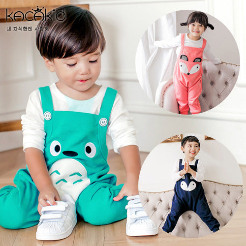 Unisex Baby Overall Cute Fox Pattern Kids Baby Romper Overalls Lovely Animals Pattern Boy Girl Child Baby Overall ka3116 - KiddyLanes