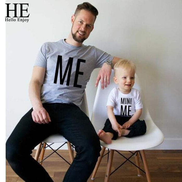 CTRL C+CTRL V Printed Matching T Shirts  For Father-Son Love Bond