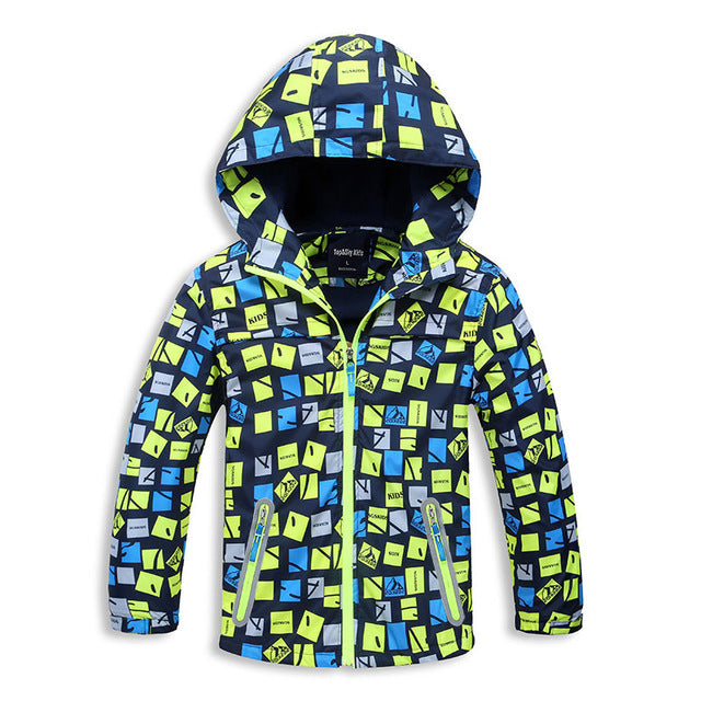 New Fashion Unisex Children's Brand Boys&Girls Jacket Kids Hoodies Windbreakers Waterproof Windproof Coats 4-15 T Spring Autumn - KiddyLanes