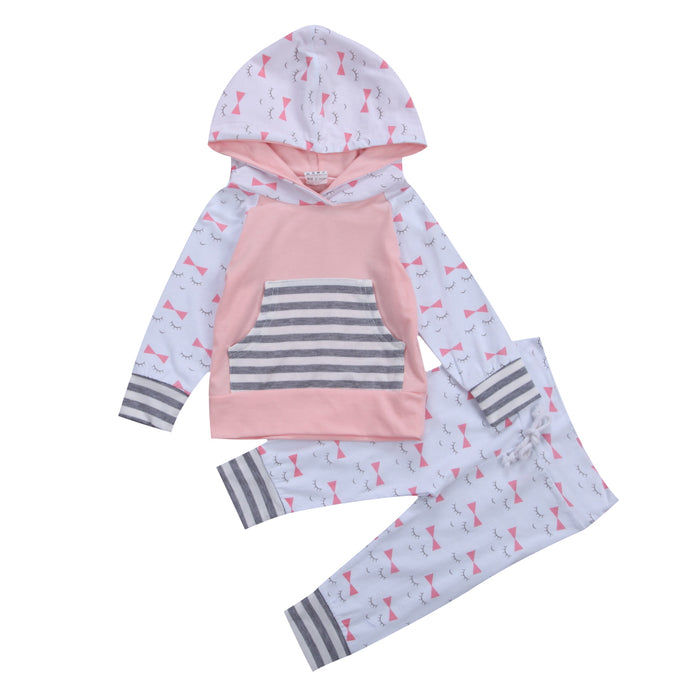 Newborn Kid Baby Girl Clothes Hoodies Sweatshirt Tops T Shirt Long Pants baby girl baby girl clothes Outfits - KiddyLanes
