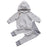 2PCS Newborn Kids Autumn Sets Baby Boy Girl Striped Clothes Hoodie Sweatshirt+Pants Outfit Set - KiddyLanes