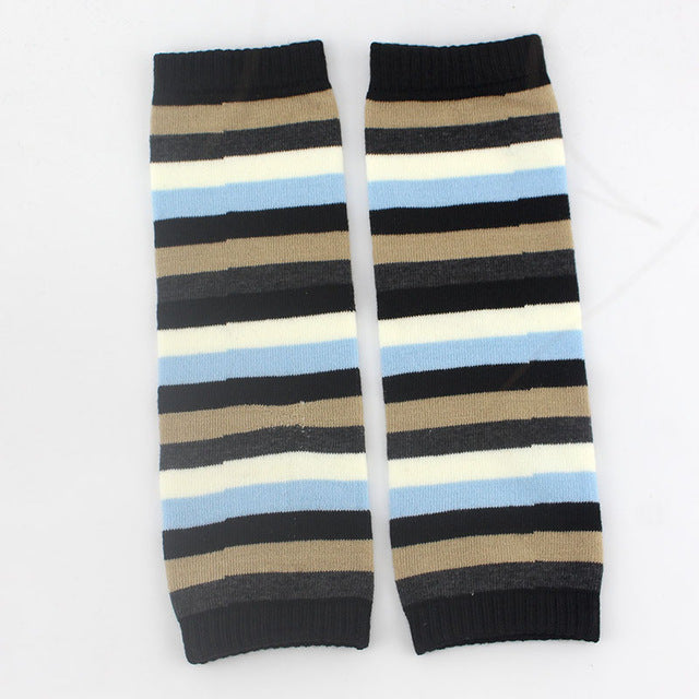 Baby Knee Pad Kids Socks Leg Warmers Kneepad Protector car girls leggings tights boys kawaii toddlers newborn Striped - KiddyLanes