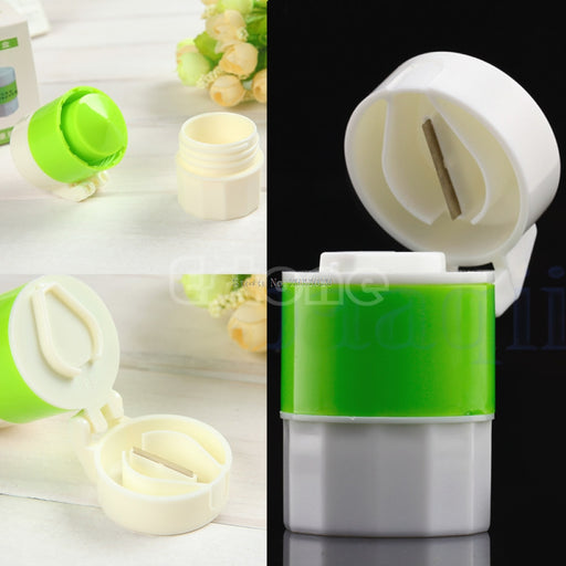 Pill Crusher Grinder Splitter Divider Cutter Storage Case Container Box -B116 - KiddyLanes