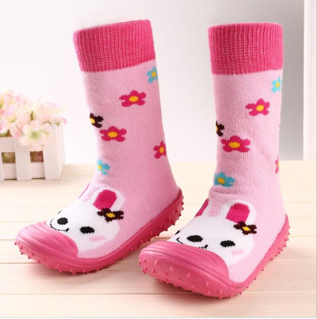 Attipas Same design for Babies Cute Cartoon Baby Socks With Rubber Soles Floor Sock With Animal Children/Kids Girl/Boy Socks - KiddyLanes