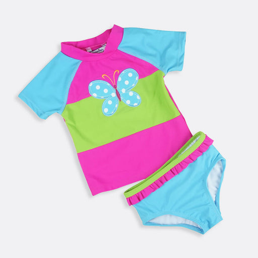 Summer New Arrive Baby girls Swimsuit short sleeve child infantil Swimwear Beach Swim clothes Two Pieces Tankinis - KiddyLanes
