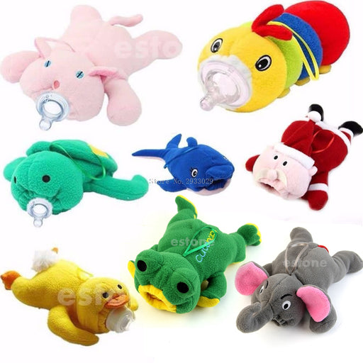 Portable Baby Feeding Cute Bottle Plush Pouch Covers Nursing Keep Warm Holders - KiddyLanes