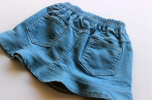 Super Soft Baby Girl Denim Skirt Children Washed jeans 2 colors 2-6 years - KiddyLanes