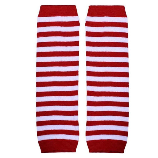 Baby Leg Warmers Girl Long Socks Striped Kneepad Socks Leg Warmers Kids Knee Protector Boot Socks For Kids - KiddyLanes
