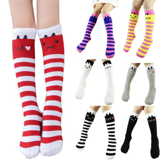 Winter Autumn Children Kids Baby Socks Cute Leg Warmers Girls Cotton Knee High Toddler Trim Boot Sock Hot New Fashion Hot Sale - KiddyLanes