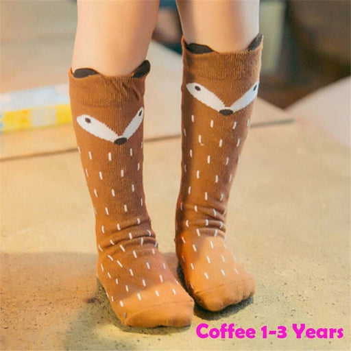 Unisex Baby Girls Boys Knee Length Rain/Squirrel Pattern Socks Kids Cute Cartoon Socks Leg Warmers Meias Infantil - KiddyLanes
