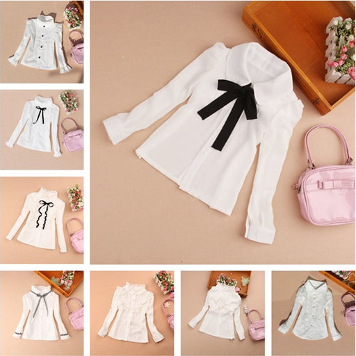 Girls Clothes  Spring Children Clothing Princess Long Sleeve Child Shirt School Girl Blouse White Blouses Kids Blusas 2-16Y - KiddyLanes
