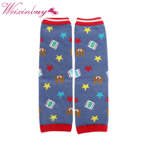 New 1 Pairs Baby Cartoon Leg Warmers Kneepads Warm Cotton Socks 3D Bear 0-5yrs - KiddyLanes