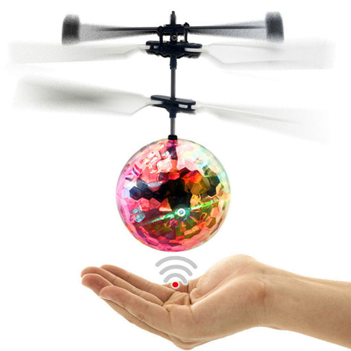 LED Lighting RC Flying Ball Drone RC Toy Helicopter Ball Built-in Shinning Colorful Flyings Toy For Kids - KiddyLanes