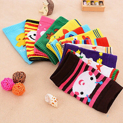 Infant Baby Safety Kids Soft Anti-slip Elbow Cushion Crawling Knee Pad Socks Toddler Kids Leg warmers At the Knee - KiddyLanes