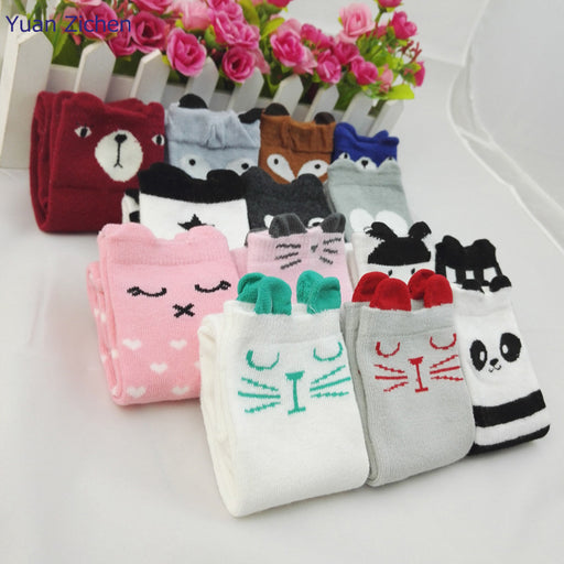 Hot Sale and High Quality 3D Cartoon Student Baby Sockings Over Thigh Kid Knee Socks for Baby 0~2 Age Child - KiddyLanes