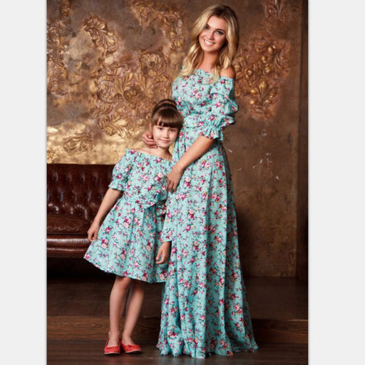 876563ce89 Mother Daughter Casual Party Matching Dress