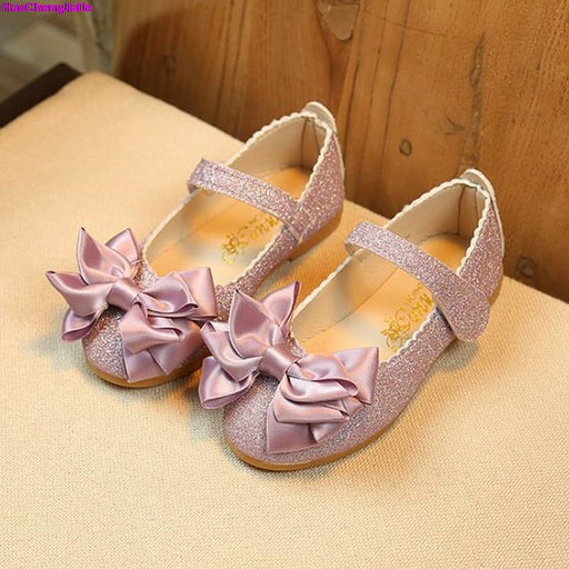 Princess Shoes for Toddler  PU Leather Bow-knotted Baby Girls - KiddyLanes
