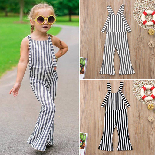 Kids baby girls overalls Toddler children girls jumpsuit - KiddyLanes