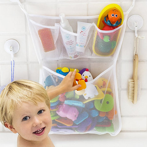 Kids Baby Bath Toys Tidy Storage Suction Cup Bag