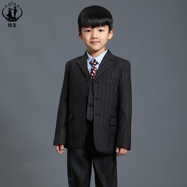 Nimble Black Stripe Suit for Boy Formal Boys Suits For Weddings ...