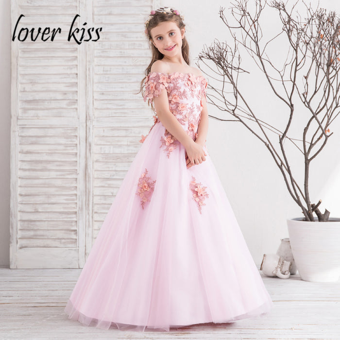 Lover Kiss Off The Shoulder Flower Girl Dress/Gowns