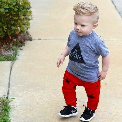 Toddlers baby boy pants star pattern children bloomers cotton casual bottoms trousers pants for 3-7years - KiddyLanes