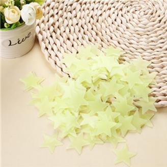% 100 pcs/lot 3D stars glow in the dark Luminous on Wall Stickers for Kids Room living room Wall Decal Home Decoration poster