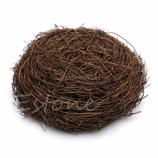 Handmade Vine Brown Bird Nest House Home Nature Craft Holiday Decoration Cute #T025# - KiddyLanes