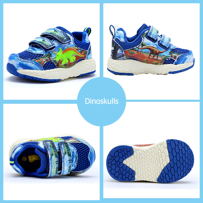 Dinoskulls Running Shoes Sports Sneakers Breathable New Arrival Casual Shoes For Boys Summer 3D Dinosaur Sneakers Kids Shoe
