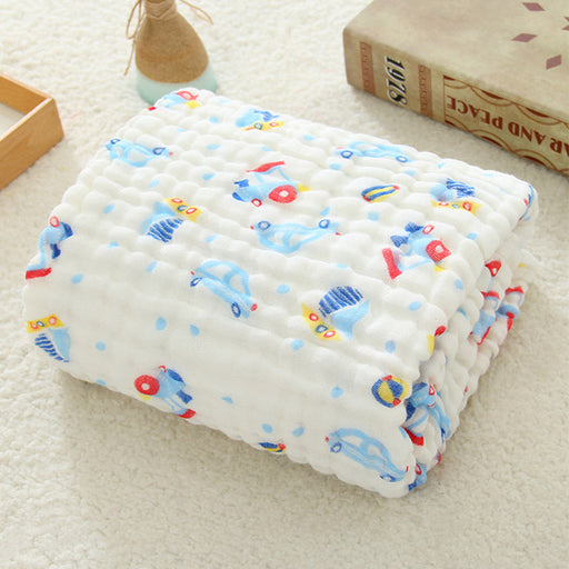 Muslin Swaddle Baby Blankets Swaddling 100% Cotton Swaddle Wrap for Newborn Babies 6 Layer Bath Towel Blanket Baby Bedding - KiddyLanes