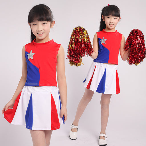 Children Cheerleaders Dress Girl School Team Uniforms Kid Graduation Kids Performance Costumes Set Girl Class Suit School Suits - KiddyLanes