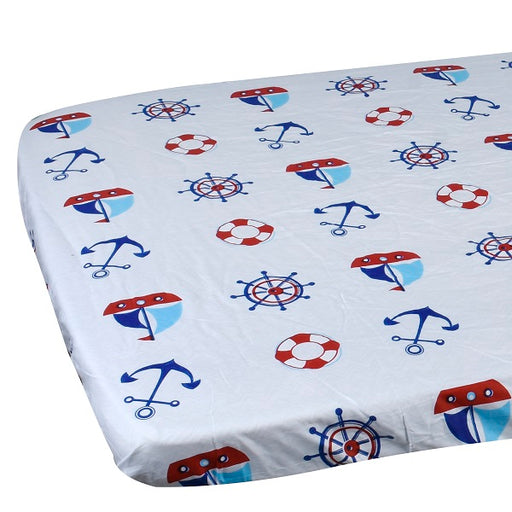 EGMAOBABY  100% Cotton Crib Fitted Sheet Soft Baby Bed Mattress Cover Protector Cartoon Newborn Bedding For Cot Size 130*70cm - KiddyLanes