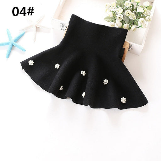 Girls Casual Wear | Winter Fashion Knit Pearl Beaded Frill Skirts