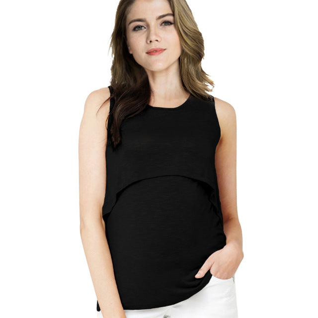 5fa14f7b18344 Summer Cotton Pregnant Tops Tees Clothing Maternity Nursing Tank Breastfeeding  t-shirt Casual Pregnancy Nurse