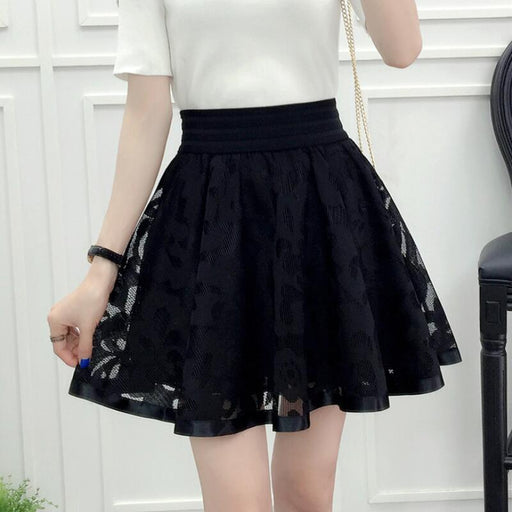 Spring Summer Fall Black Teenage Kids Big Girls Skirt Tutu Flower Pearls Children Clothes Costume Dance Bottoming - KiddyLanes