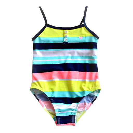 Little Girls One-piece Striped Swimsuit Baby Girl Swimwear Toddler Baby Swimsuits Children Bathing Swim Suit Kids Costume - KiddyLanes