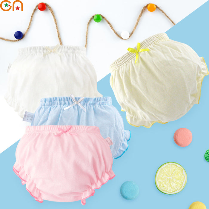 100% Cotton Underwear Panties Girls,Baby,Infant,fashion Solid color Bow lace Underpants
