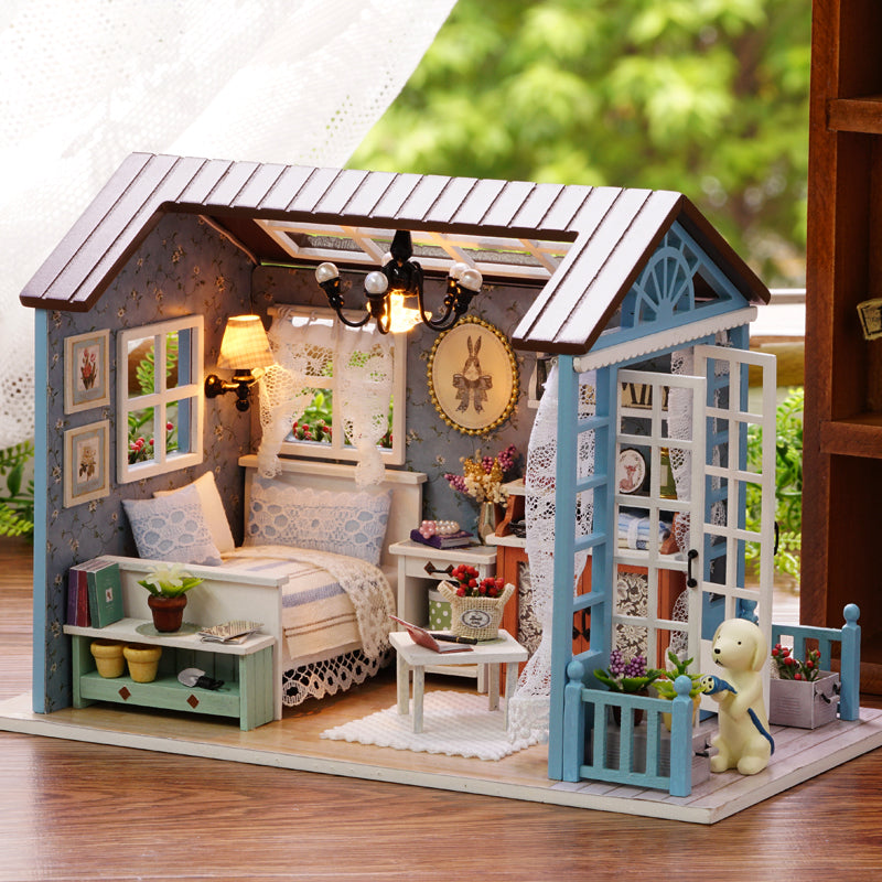 Doll House DIY Miniature Dollhouse Model Wooden Toy Furnitures Casa De Boneca Dolls Houses Toys Birthday Gift Forest Times Z007