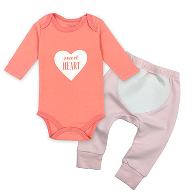 Unisex 2pcs/lot Baby Girl Clothes Newborn Toddler Infant Autumn/Spring Cotton Baby Rompers+ Baby Pants Baby Clothing Sets - KiddyLanes