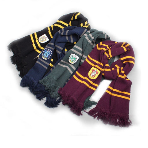 Harry Potter cosplay costume potter scarf Hermione Gryffindor Ravenclaw Slytherin Hufflepuff Scarf for  Boys and Girls