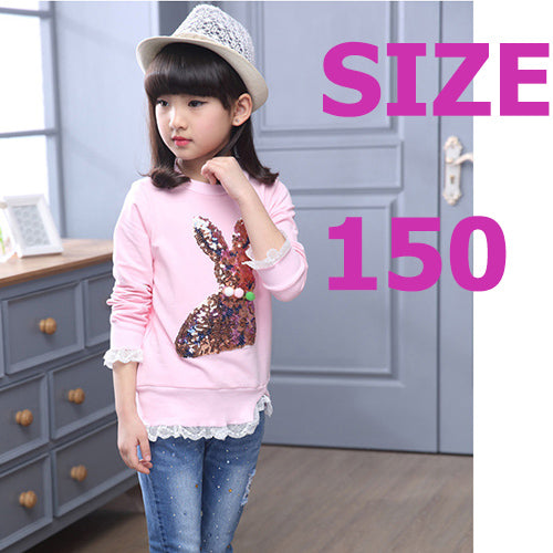 Sequined Rabbit  Gray Sweatshirt 8-14 Y Pullovers