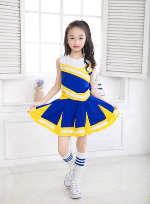 Songyuexia Children Campus Sports Meeting Clothing Students' Aerobics Long Short-sleeved Cheerleader Performance Clothing - KiddyLanes