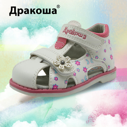 Apakowa PU Leather Girls Shoes kids Summer Baby Girls Sandals Shoes Skidproof Toddlers Infant Children Kids Shoes Arch Support - KiddyLanes