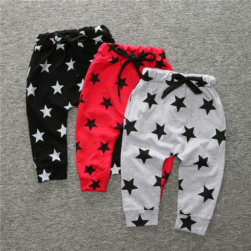 Girls Boys Casual Harem Pants Star Printed Children Toddler Child Trousers Baby Clothes Spring Autumn Long Pants - KiddyLanes