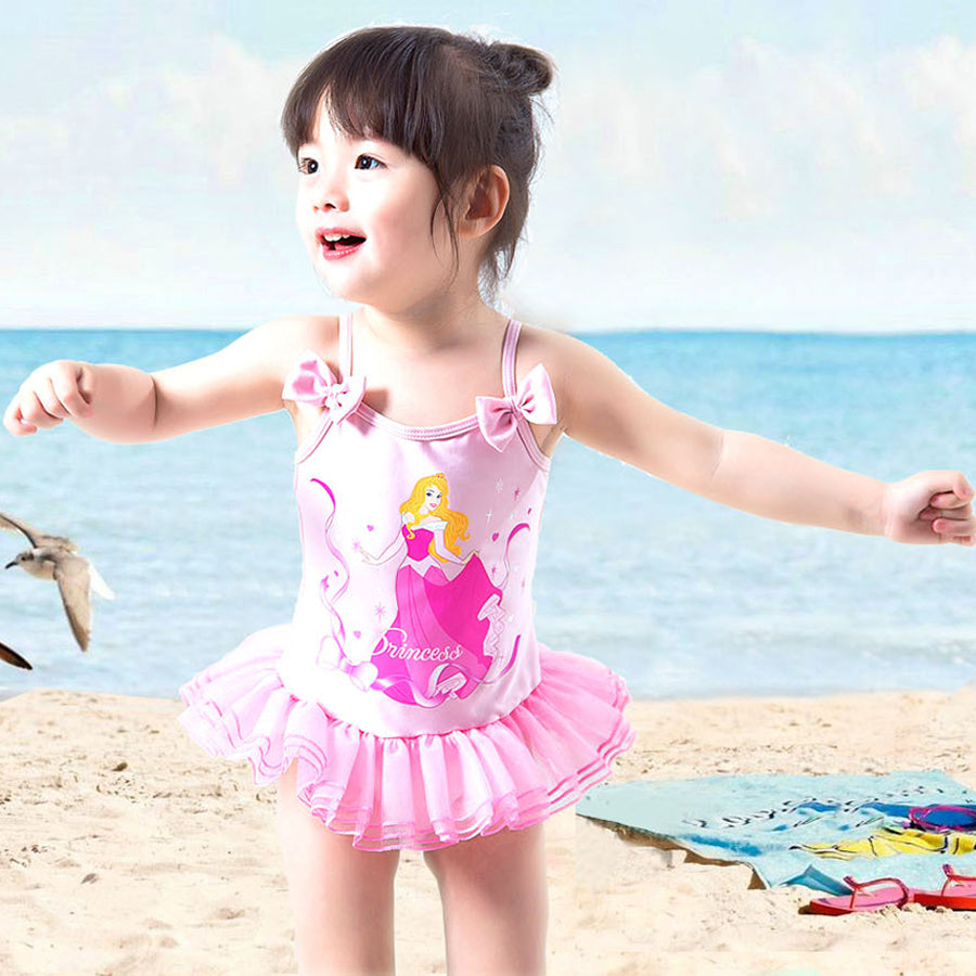 dd55cd856 Cartoon Girl Toddler Kids Swimming Costumes Baby Girls Tankini Bikini  Swimwear Beach Monokini Swimsuit Bathing Suit