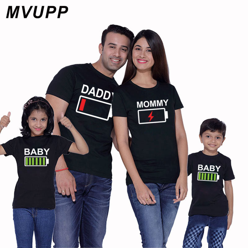 f82cfe439d Family Matching Outfits Father Mother and Daughter Son Clothes Look Cotton  daddy t shirt mom mum