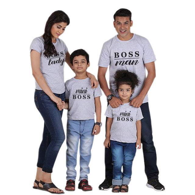 44b34e18 Family Matching Outfits Father Mother and Daughter Son Clothes Look Cotton  daddy t shirt mom mum
